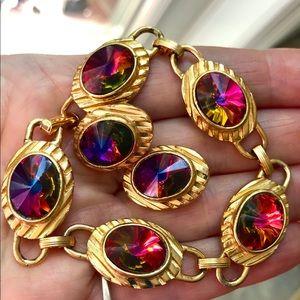 Vintage park lane Rivoli volcano crystal bracelet